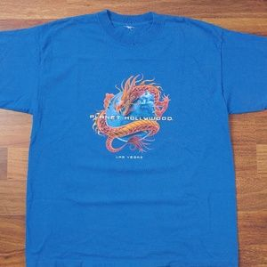 Planet Hollywood Las Vegas 90s Dragon T-Shirt 🐉